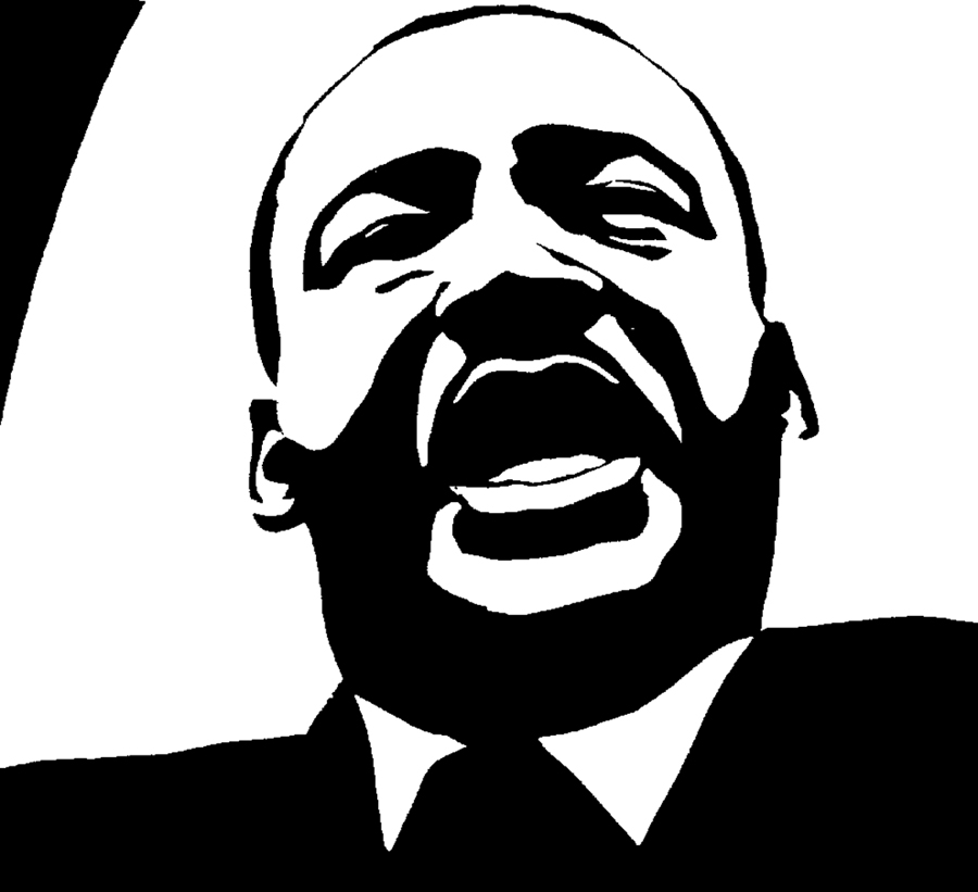 Portrait of Martin Luther King, Jr. Art by Christa Occhiogrosso.