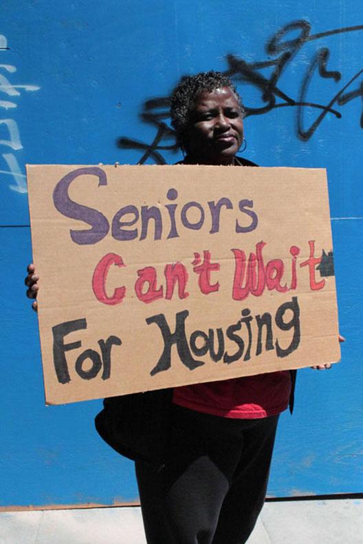"""Seniors can't wait for housing."" Photo credit: CJJC"