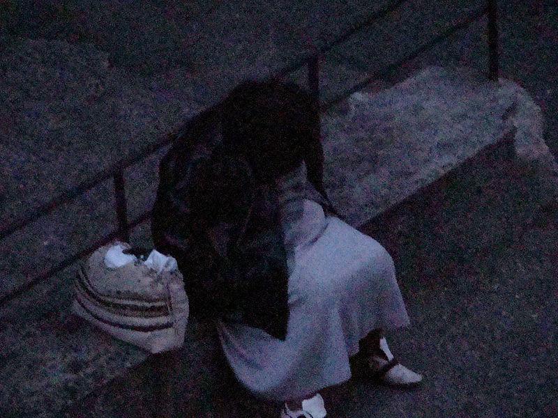 Sleeping Homeless woman Photo by  Edal Anton Lefterov