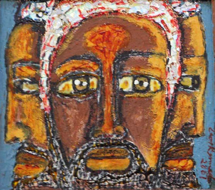 "Leon Kennedy's painting, ""The Three Wise Men,"" is on display at Oakstop Gallery."