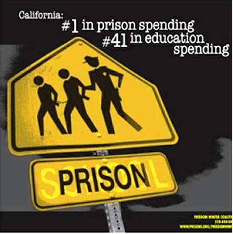 """""""California: #1 in Prison Spending."""" Credit: Critical Resistance, from the Archives of Center for the Study of Political Graphics"""