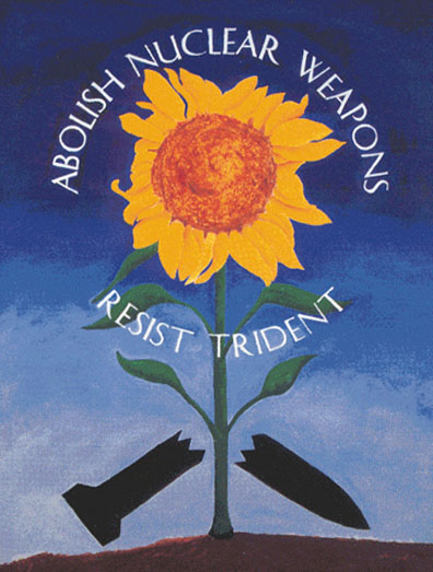 Abolish Nuclear Weapons. Resist Trident. Poster art courtesy Ground Zero Center