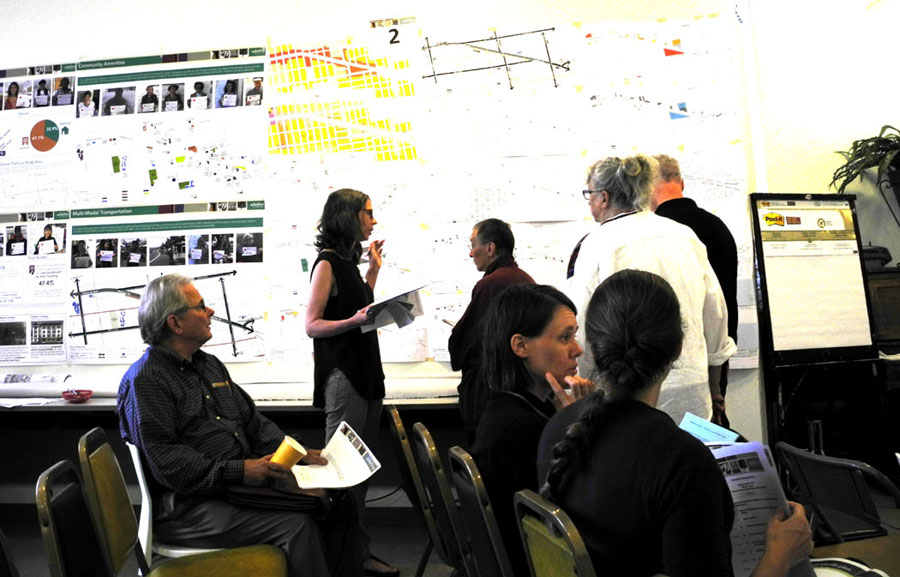 The Community Visioning Workshop held by Berkeley officials in planning for the Adeline Corridor. Carol Denney photo