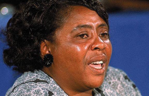 Civil rights leader Fannie Lou Hamer organized the Mississippi Freedom Democrats.