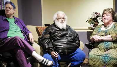 Senior tenants are facing threats from management. From left, Peni Hall, Gary Hicks and Eleanor Walden. Avram Gur Arye photo