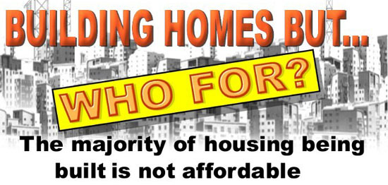 """Even when developers promise to construct """"affordable"""" housing, the housing is usually not affordable to poor and homeless people."""