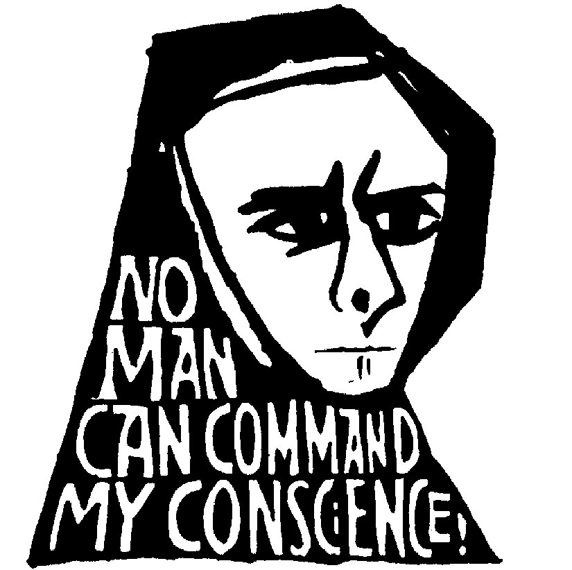 """""""No Man Can Command My Conscience."""" Art by Ben Shahn"""