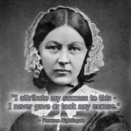 Florence Nightingale did the works of mercy with the courage and dedication of a fearless warrior.