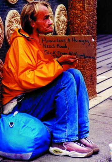 A sick, disabled, emaciated man on the streets of San Francisco. Robert L. Terrell photo