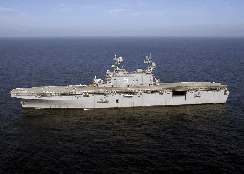 The USS Peleliu, an amphibious assault ship, was once used as temporary housing during the 1989 Loma Prieta earthquake.