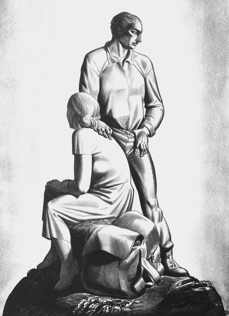 """""""And Now Where?"""" Lithograph by Rockwell Kent"""