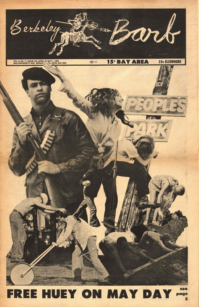 The front cover of the April-May, 1969 issue of the Berkeley Barb.