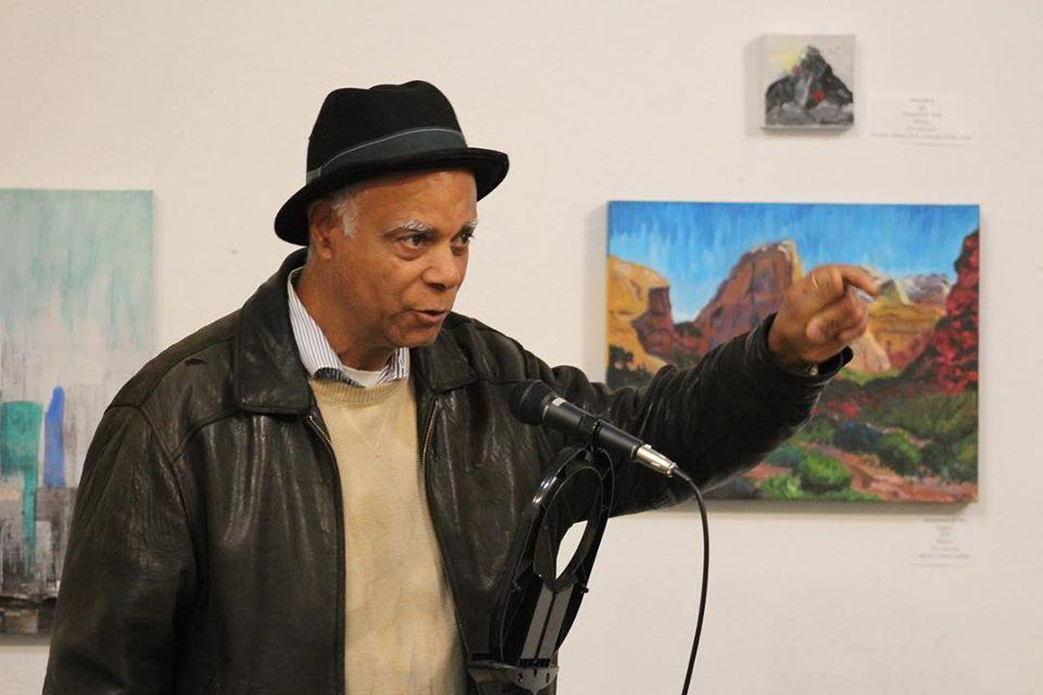 Charles Blackwell reads at poem at Ase.