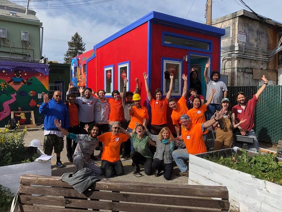 Groups of volunteers and YSA staff worked together to build two more tiny houses throughout the month of April.