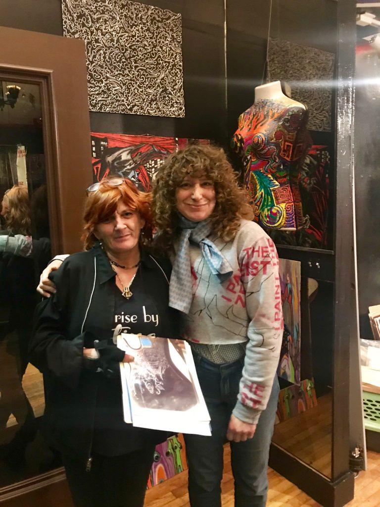 April Anthony and Judy Elkan pose for a photo.