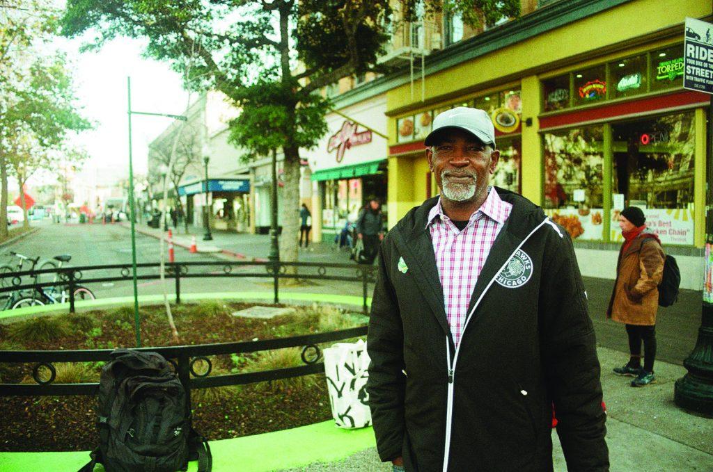 Photo of Bertram Jerkins on Shattuck Avenue.