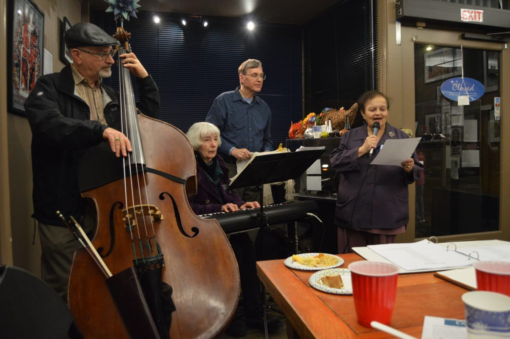"A local Berkeley band plays for the opening night of ""Creativity Unhoused"""