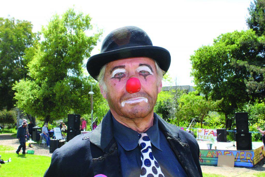 A photo of the Master of ceremonies, Lefty the Clown.