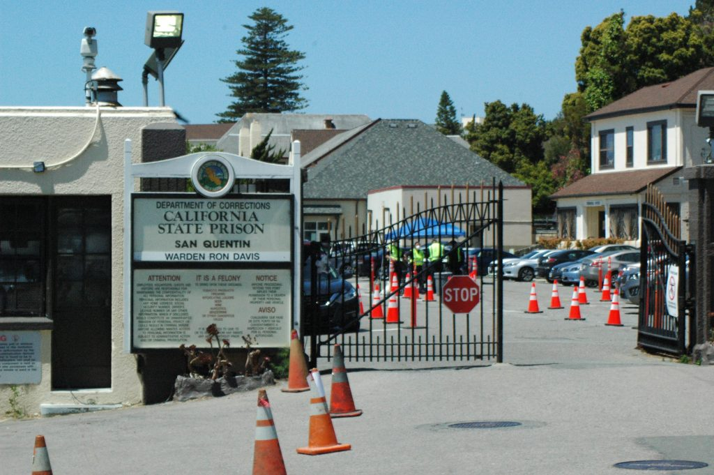 The eastern gate to San Quentin State Prison.